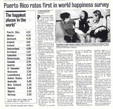 世界で1番幸せな国ランキング