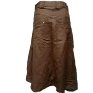 リネンアシンメトリースカート