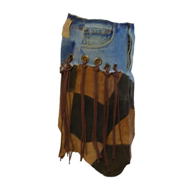 デニムリメイクスカート