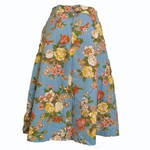 古着花柄フレアースカート