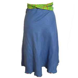 古着デニム巻きスカート