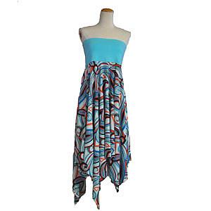 幾何学模様スカート