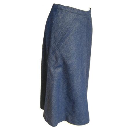 デニムバイヤススカート