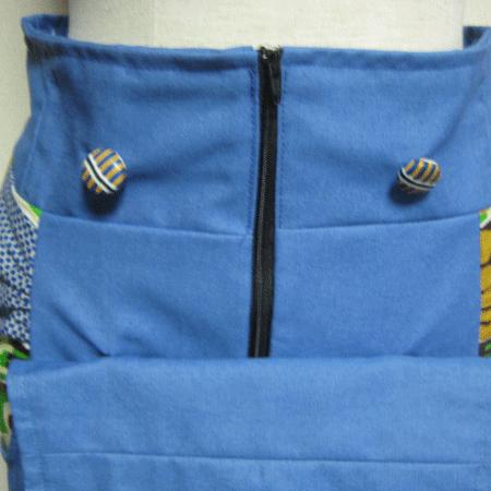 バティックデニムペンシルタイトスカート