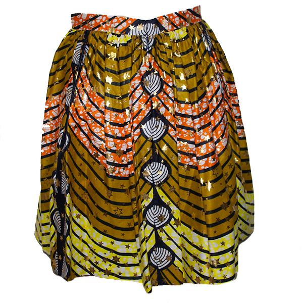 アフリカンバティックギャザースカート