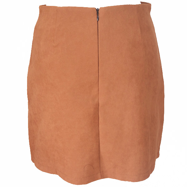 刺繍台形スカート
