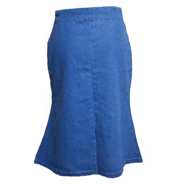 刺繍デニムタイトスカート